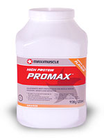 <strong>Maximuscle Promax protein powder.</strong>